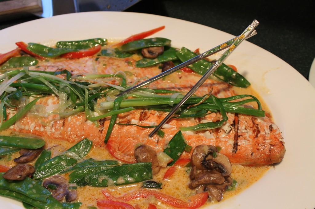 Wild Alaskan Sockeye Salmon, Thai Style