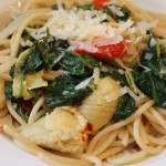 Linguini, Artichoke, Spinach, Anchovies, Frani's Roasted Red Peppers