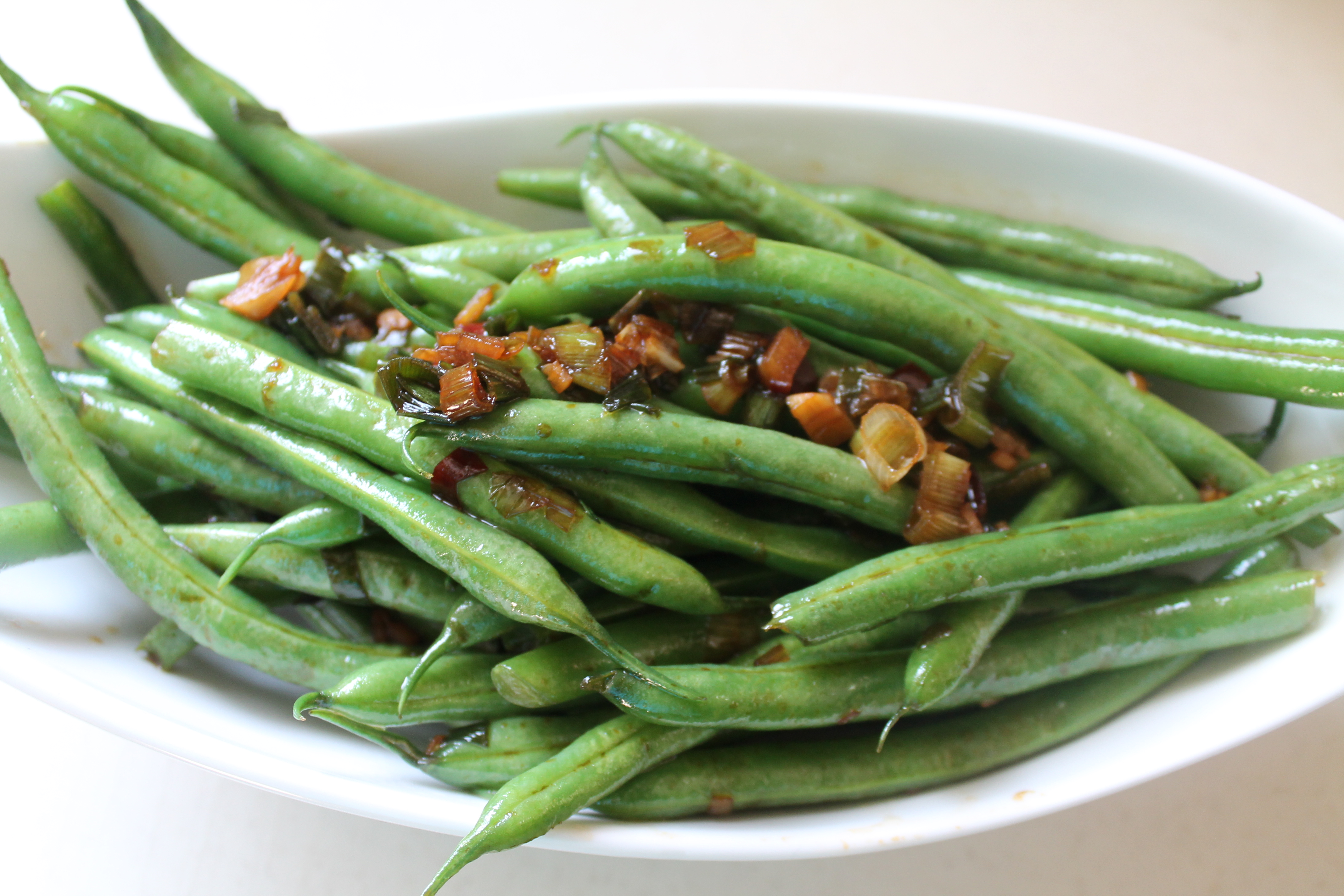 Green Beans, Cooking with Fresh Ginger