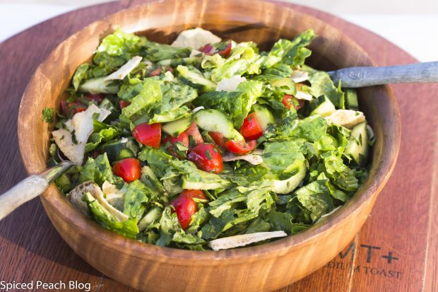 Fattoush, from the Lebanese Kitchen of