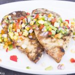 Grilled Chicken, Sweet Corn, Mixed Peppers Salsa