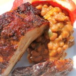 Ribs, Baked Beans and Coach Sposato's Bar-B-Q Sauce