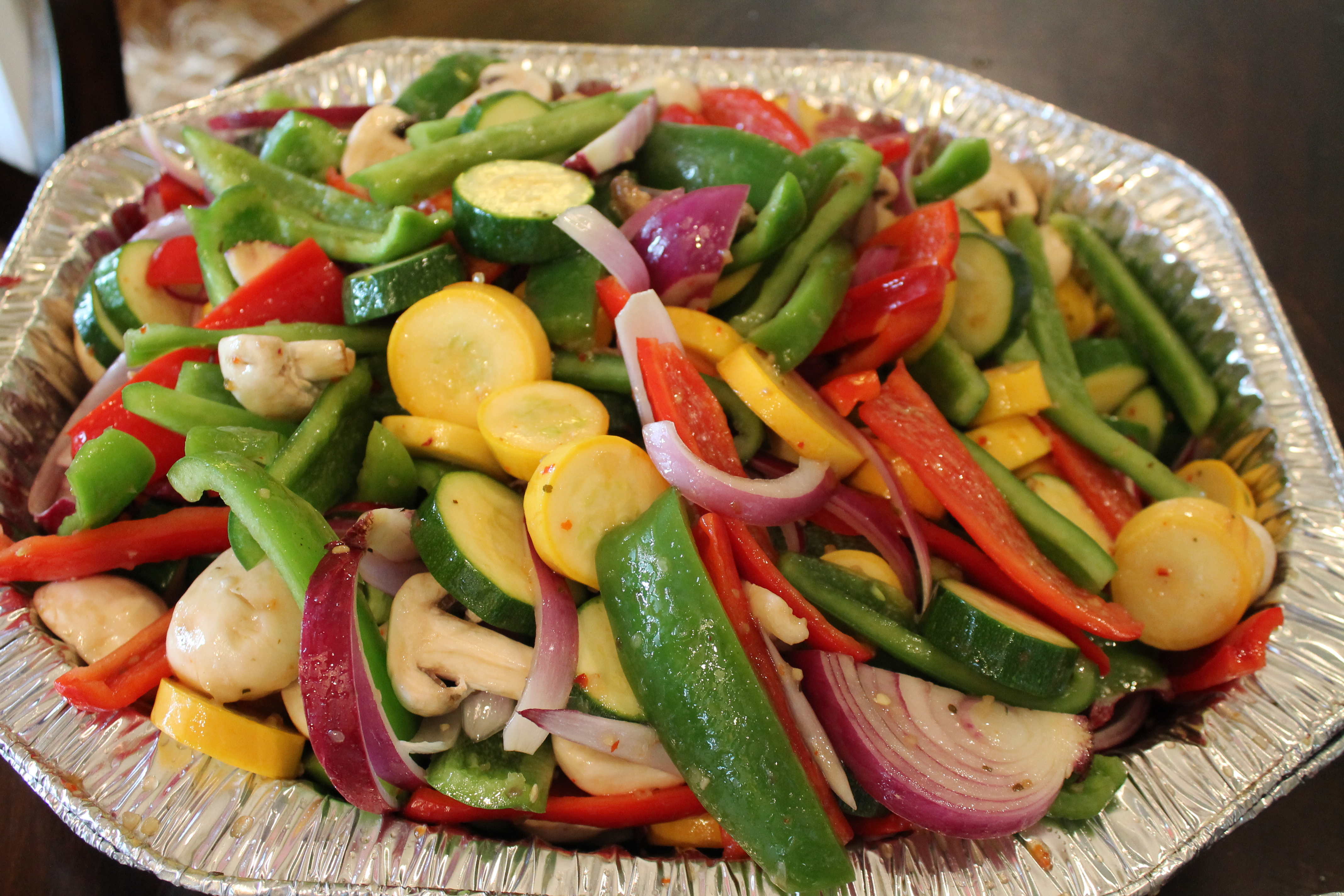 Fresh Grilled Vegetable Medley with Dip
