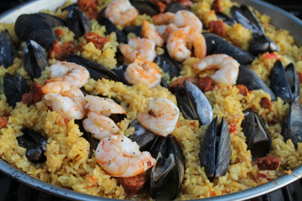 Grilled Paella for a Crowd