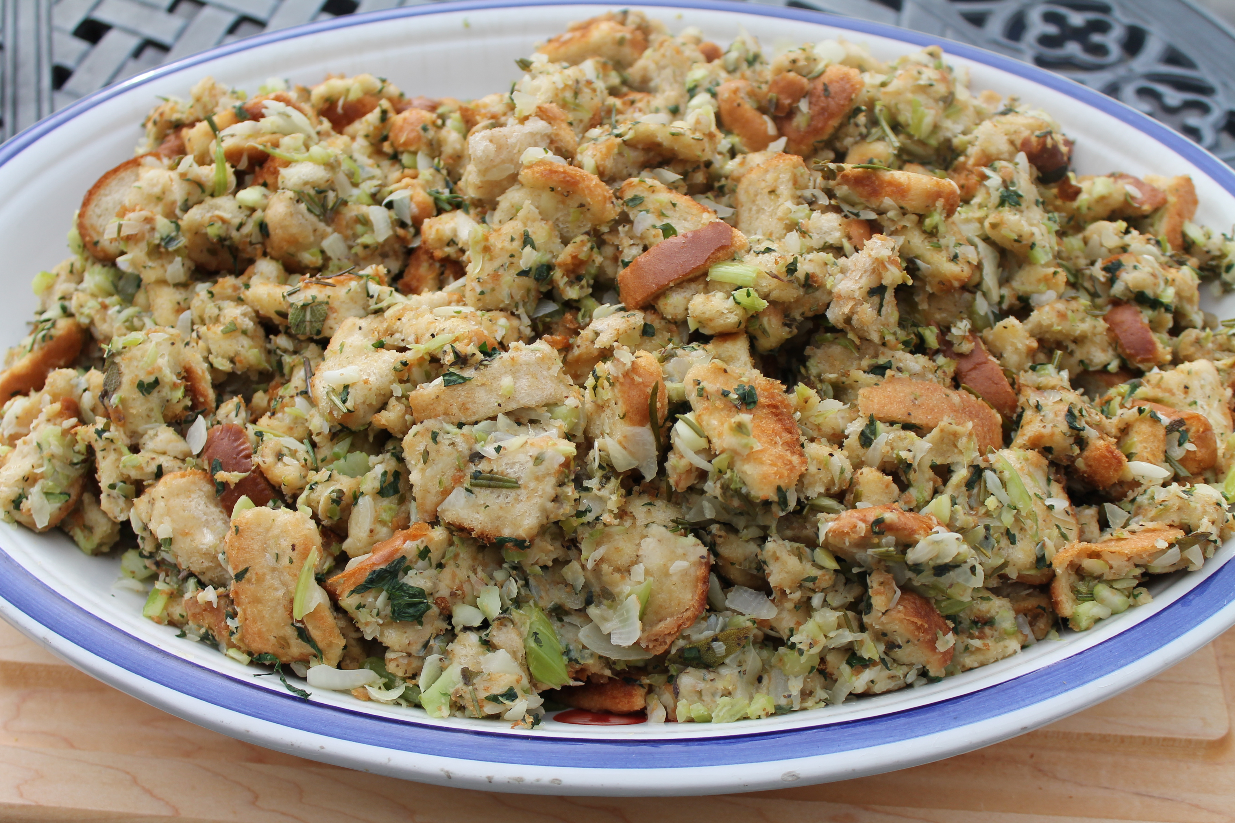 My Mom's Old Fashioned, Turkey Stuffing, almost - Spiced Peach Blog