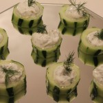 Cucumbers with Plain Greek Yogurt