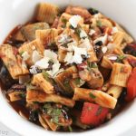 Rigatoni, Kalamata Olives, Peppers, Mushrooms, Onions, Capers