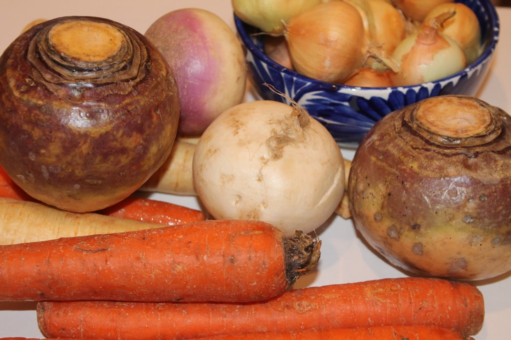 Root Vegetables for the Ten Vegetables in the Beef and Veal Stew