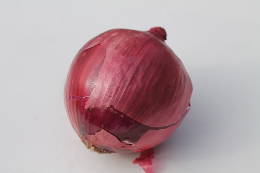 red onion, 3/4 to be chopped finely