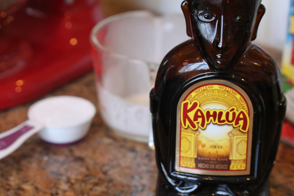 adding in 10X sugar and kahlua