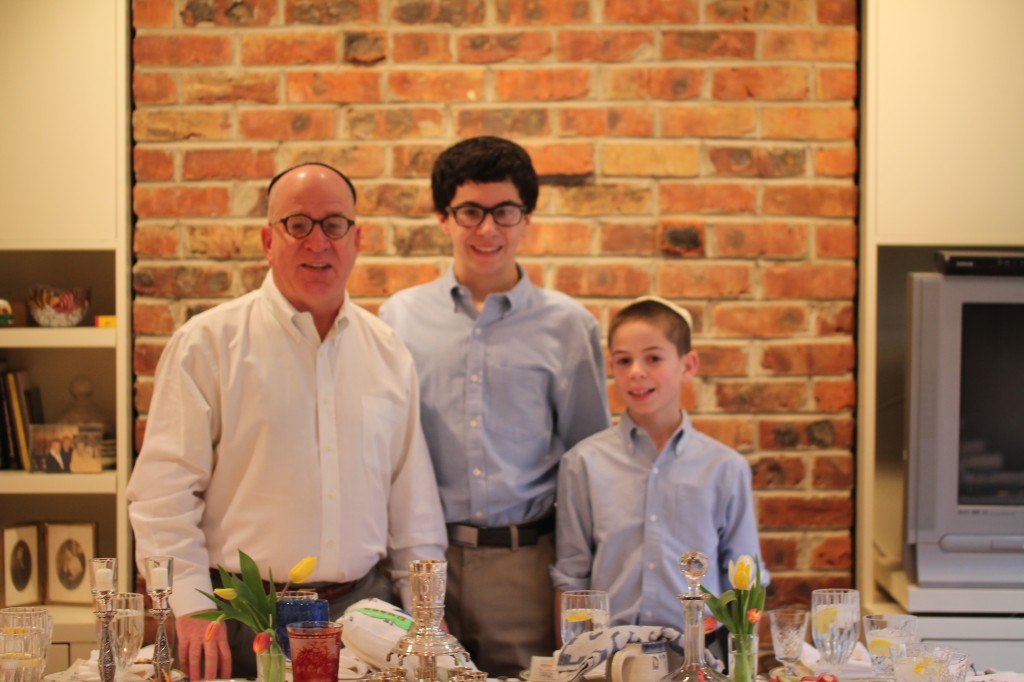 Debbie's husband Glen Feinberg and their sons, David and Noah