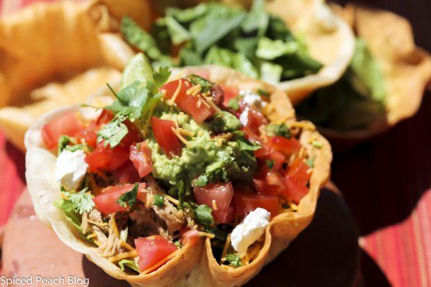 Shredded Pork Tortilla Salad