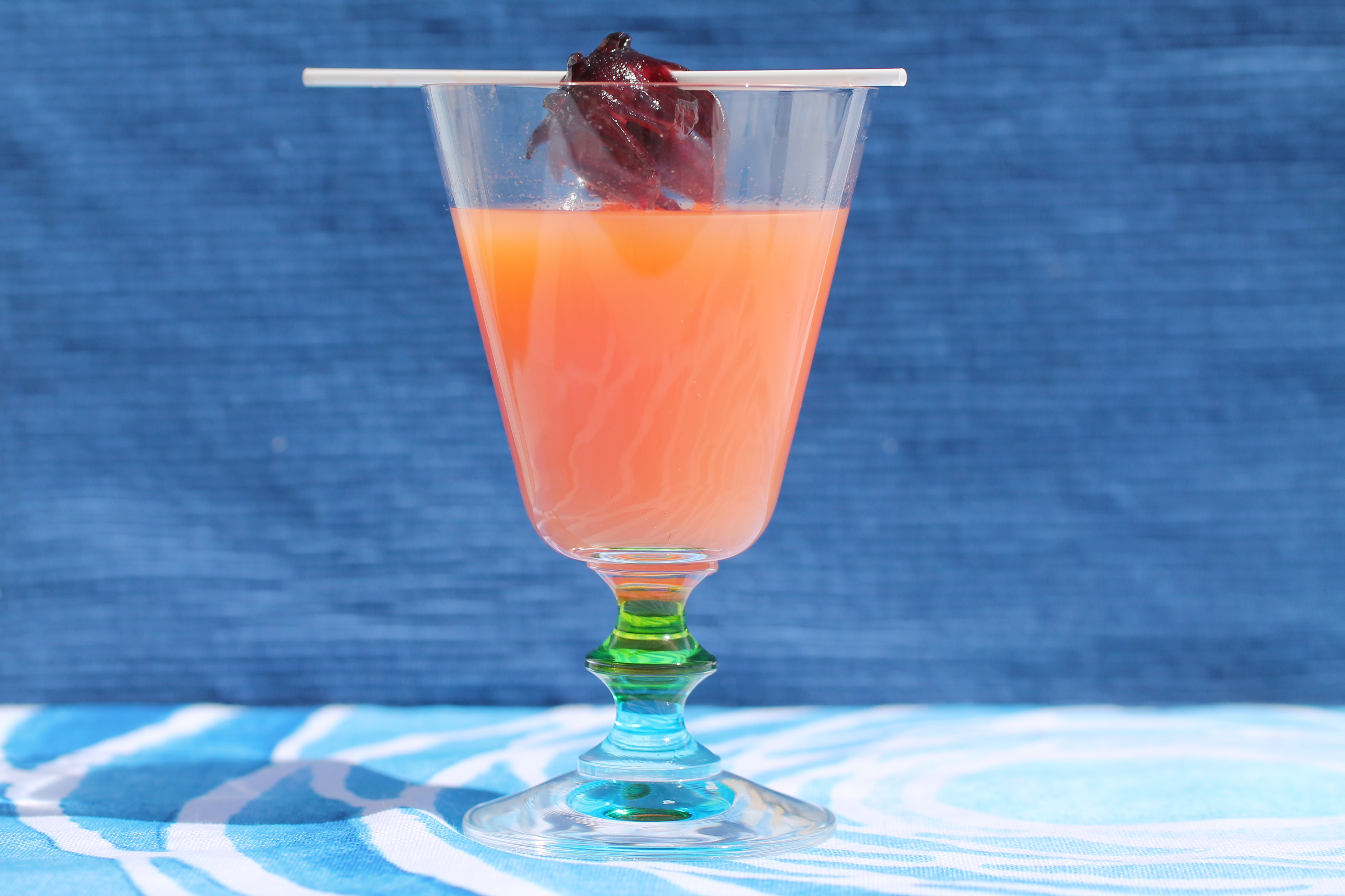 Safari Cocktail with Hibiscus Flower