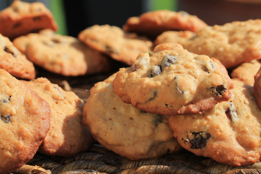 Honey Oatmeal Raisin Cookies