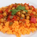 Cuban Sofrito with Garbanzo Beans on Rice