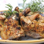 Grilled Whole Chicken Legs with Rosemary and Thyme