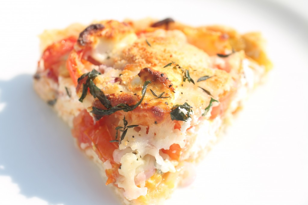Martha's Rustic Tomato and Cheese Pie