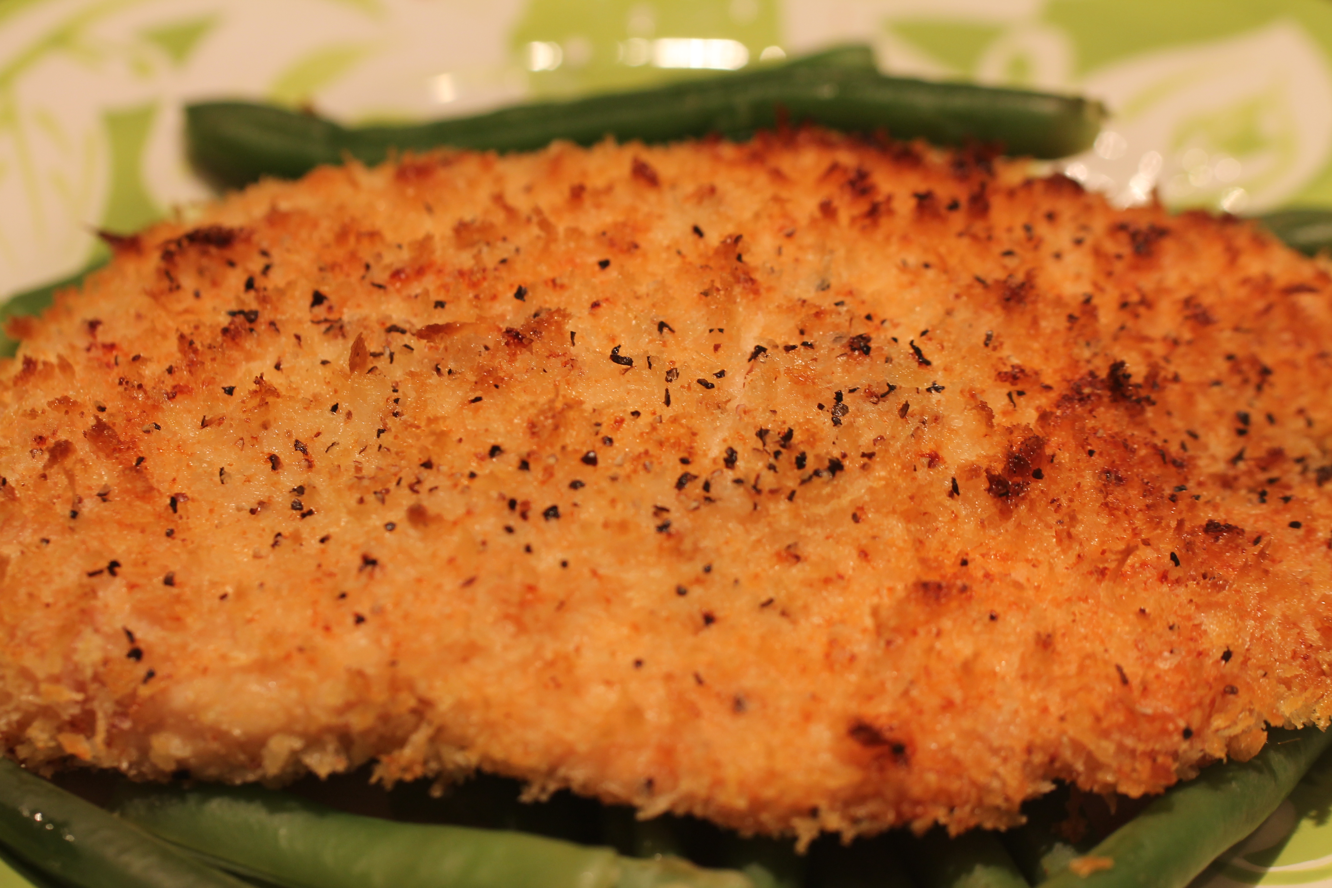 Chicken breast baked breaded