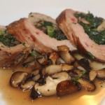 Birchrun Hills Veal Flank Steaks stuffed with Oley Valley Mushrooms, Phoenixville Farmers Market