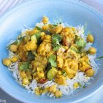 Indian Inspired Chicken, Cauliflower, and Chick Peas