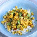 Indian Inspired Chicken, Cauliflower, and Chick Peas