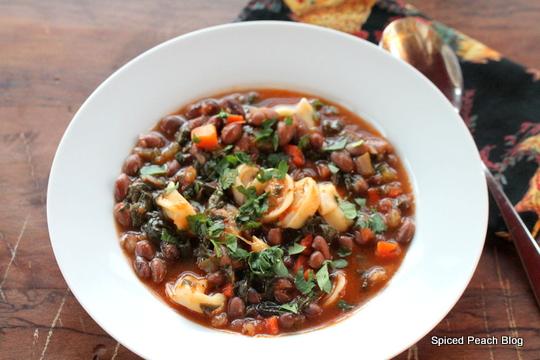 Zursun Idaho Heirloom Baby Borlotti Bean Soup, Cheese Tortellinis, Basil