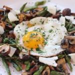 Fried Egg, Asparagus, Crimini, Surchoix De Chevre