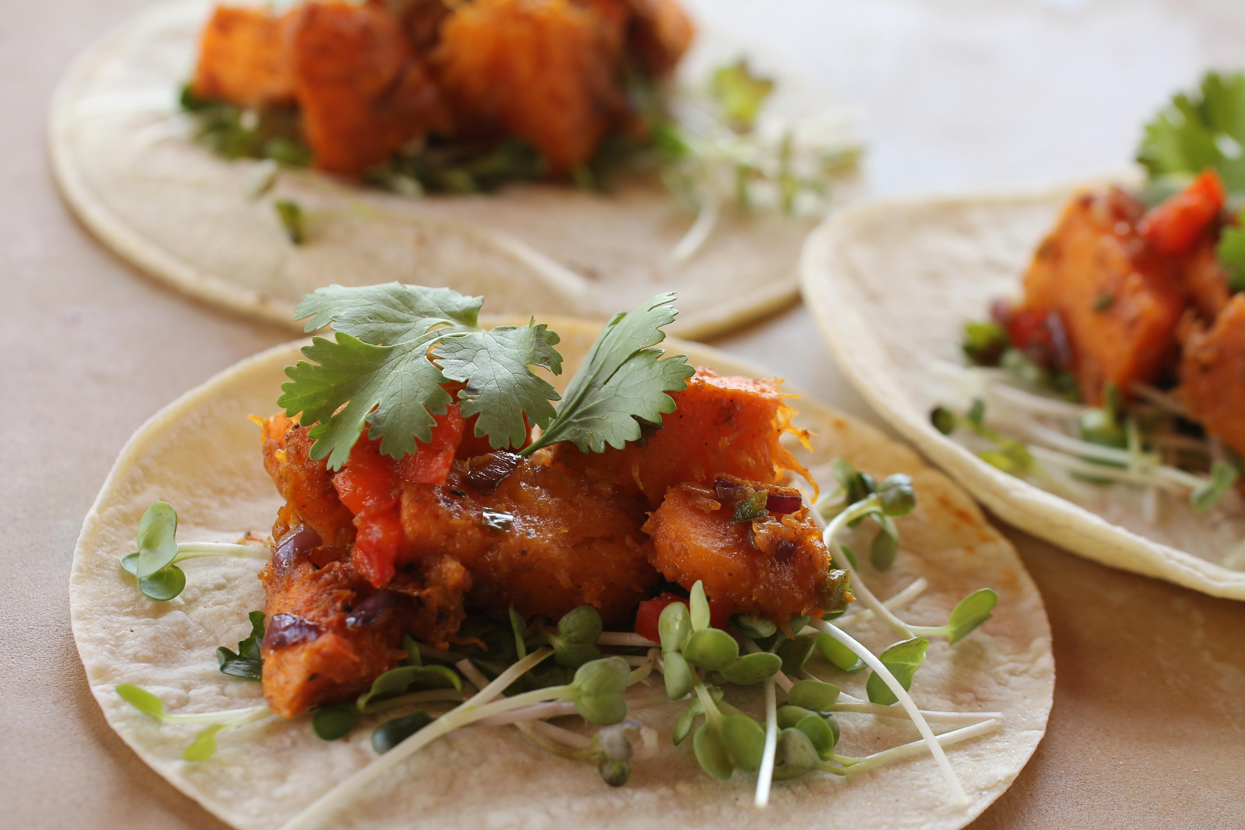 Spiced Butternut Squash Tacos
