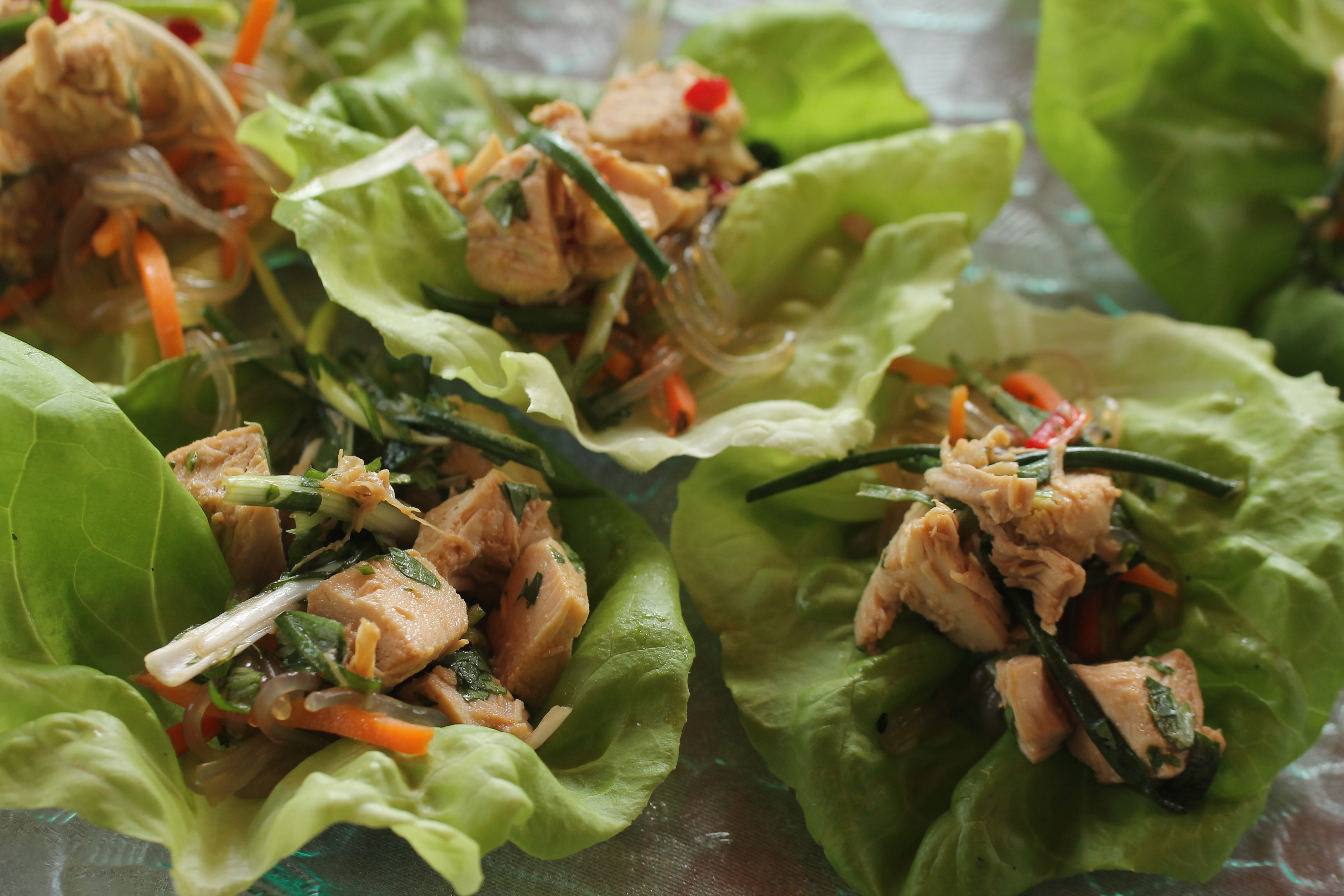 Asian Chicken Salad in Lettuce Cups