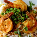 Curried Shrimp with Fresh Picked Peas
