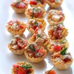 Quick and Easy Appetizer, Garden Tomatoes, Feta, fresh Oregano in Athens Mini Fillo Shells