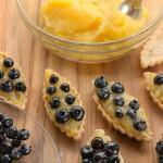 Fresh Picked Blueberries and Lemon Tarts