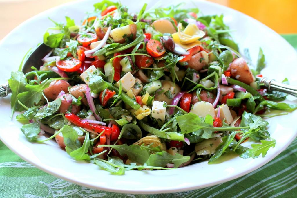 Meditteranean Salad in a Bowl