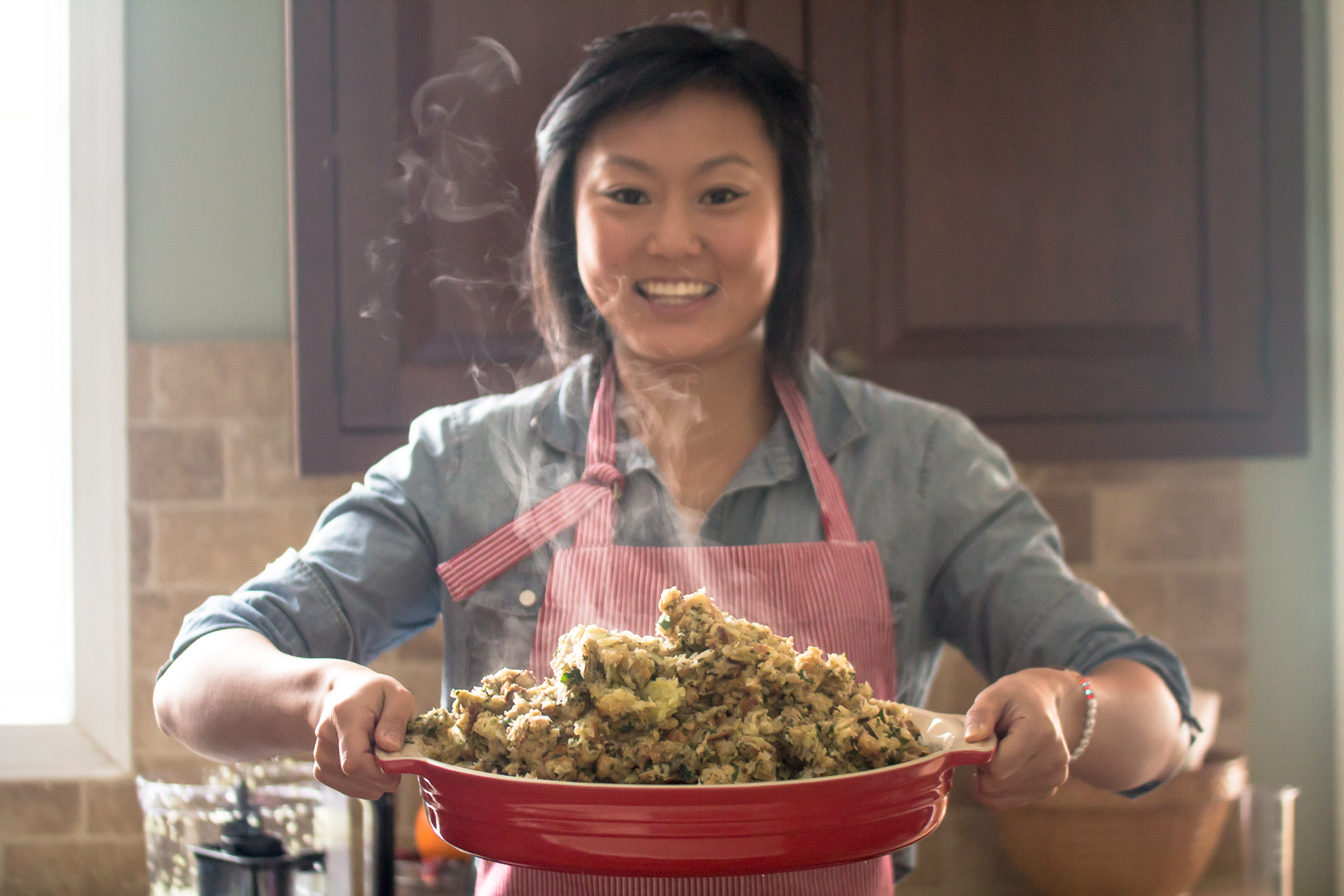 Homemade Stuffing with Hamilton Beach Stack & Snap Food Processor GIVEAWAY!