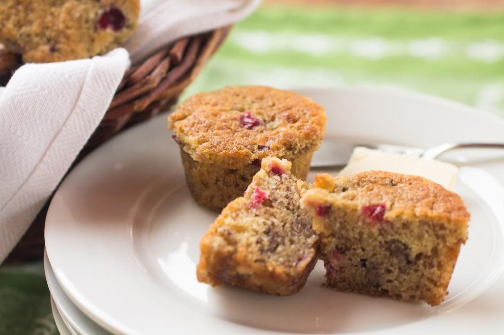 Cranberry Banana Mini Muffins