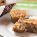 Cranberry Banana Mini Muffins