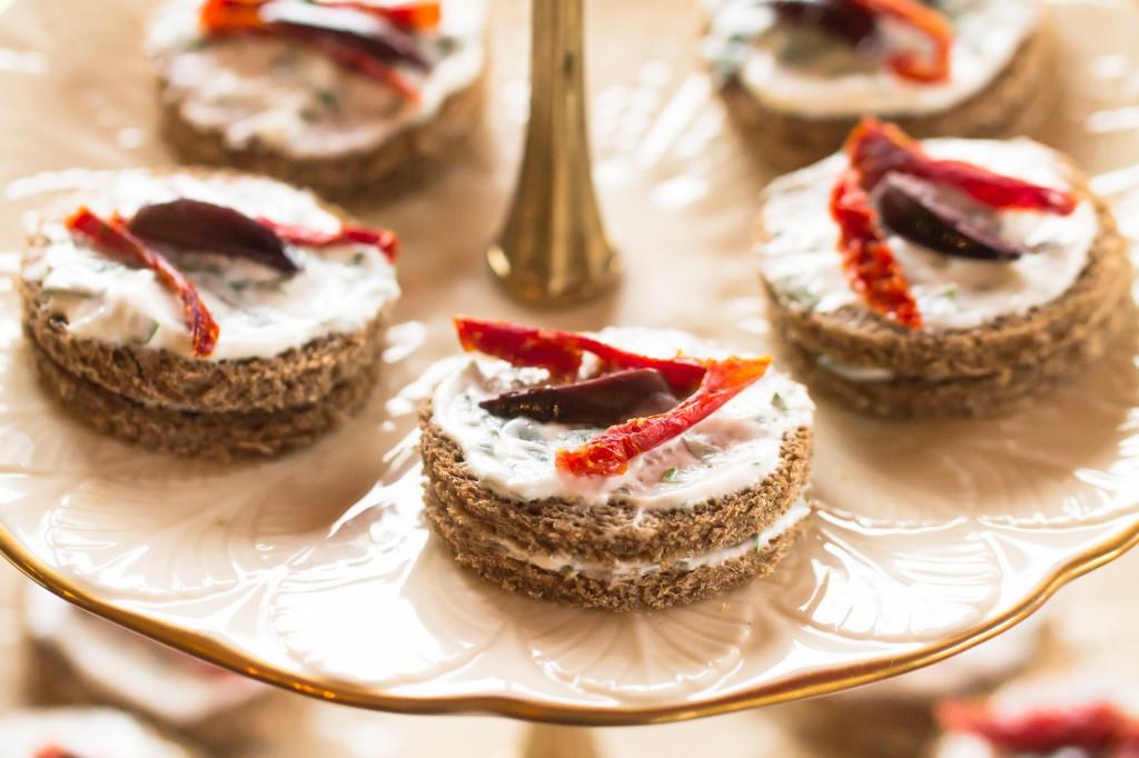 Chobani Yogurt with Roasted Peppers and Kalamata Olives Appetizer