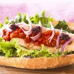 Roasted Turkey, Red Peppers, Tapenade Mayo on a Crusty Roll
