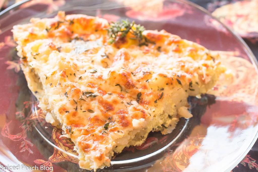 slice of potato and egg bake