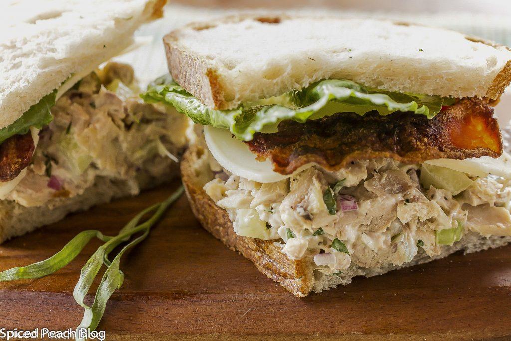 Tarragon Chicken Salad and Bacon on Crusty Sourdough