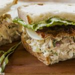 Tarragon Chicken Salad and Bacon on Crusty Sourdough
