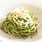 Green Speckled Thin Spaghetti