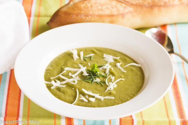 Celeriac and Spinach Soup