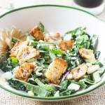 Kale Salad, Creamy Caesar, Cheesy Potato Skin Croutons