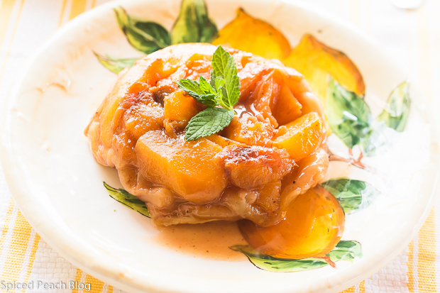 Peach and Nectarine Tarte Tatin