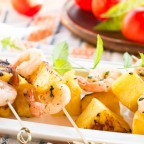 Grilled Pineapple and Shrimp Skewers
