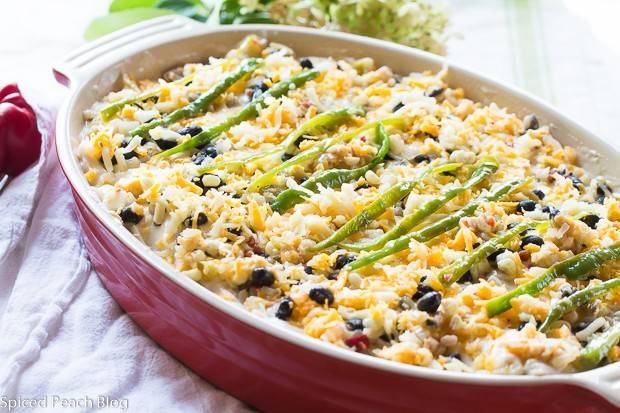 Green Chile, Black Beans, and Sweet Corn Enchiladas