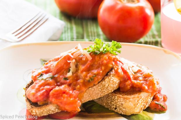 Tomato Gravy on Rustic Sesame Bread