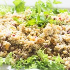 Freekeh Salad, dried fruit, pine nuts, za'atar