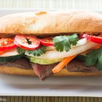 Banh Mi, with leftover grilled steak
